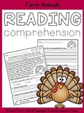 Reading Comprehension:  Farm Animals
