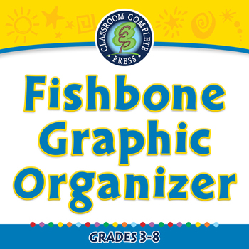 Reading Comprehension: Fishbone Graphic Organizer - NOTEBOOK Gr. 5-8
