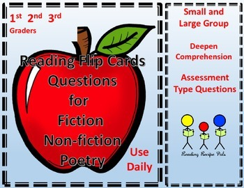 Reading Comprehension Flip Cards with Questions