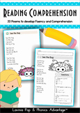Reading Comprehension & Fluency - Phonics Poems