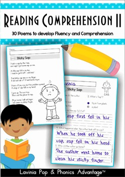 Reading Comprehension & Fluency - Phonics Poems II