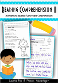 Reading Comprehension & Fluency - Phonics Poems II
