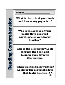 Reading Comprehension Foldable