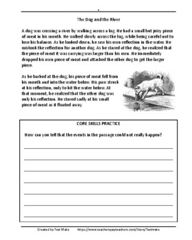 Determining the Moral of Fables and Folklore Worksheets