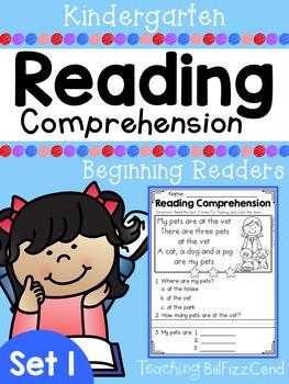 Reading Comprehension Passages For Beginning Readers (SET 1)