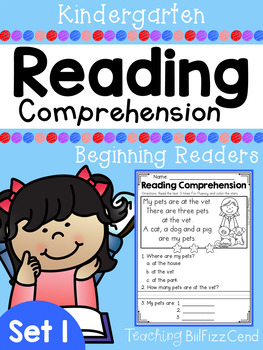 Kindergarten Reading Comprehension (SET 1)