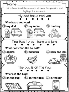 Reading Comprehension For Early Reader (SET 2)
