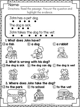 Reading Comprehension For Early Reader (SET 5)