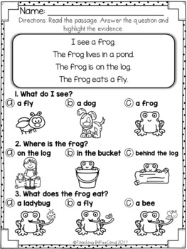 Reading Comprehension For Early Reader (SET 6)