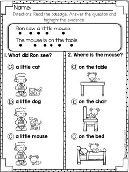 Reading Comprehension For Early Reader (THE BUNDLE)