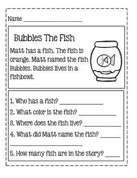 Reading Comprehension For Young Learners