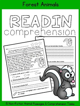 Reading Comprehension: Forest Animals