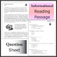 Natural Resources Coal Reading Comprehension Passage and Questions