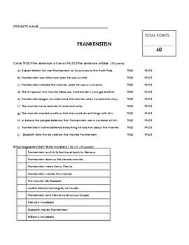 Reading Comprehension - Frankenstein (Penguin Readers)
