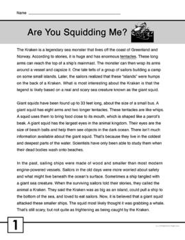 Nonfiction Reading Passage FREE