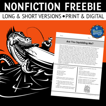 Nonfiction Reading Passage FREE by The Brighter Rewriter | TpT
