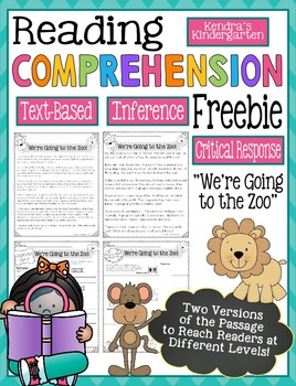 Reading Comprehension Freebie