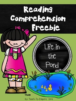 Reading Comprehension Freebie:  Life in the Pond