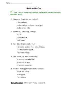 3rd Grade Reading Comprehension Passages And Questions Funny Stories