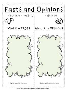 Fact and Opinion Interactive Foldable