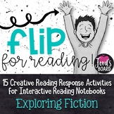 Interactive Reading Notebook | Reading Response Flip Books | Fiction