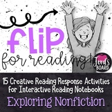 Interactive Reading Notebook | Reading Response Flip Books | Nonfiction