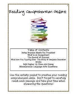 Reading Comprehension Galore! An Activity Packet