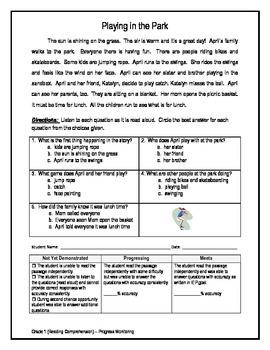 1 Reading Comprehension - Grade 1 (Progress Monitoring)