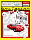 Reading Comprehension - Grade 2 (2nd Grade) - Rhyming Story: Flynn the Ferrari