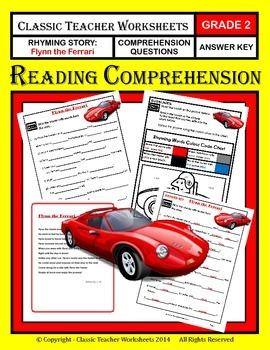 Reading Comprehension - Grade 2 (2nd Grade) - Rhyming Story: Flynn the Ferrari
