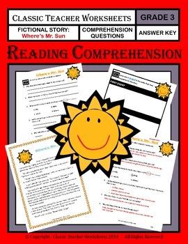 Reading Comprehension - Grade 3 (3rd Grade) - Fictional Story: Where's Mr. Sun