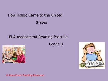 Reading Comprehension  Grade 3 Practice Reading Passage