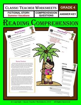 Reading Comprehension - Grade 4 (4th Grade) - Fictional Story: Summer Vacation