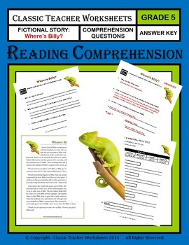 Reading Comprehension - Grade 5 (5th Grade) - Fictional Story: Where is Billy