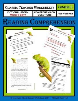 Reading Comprehension - Grade 5 (5th Grade) - Fictional St