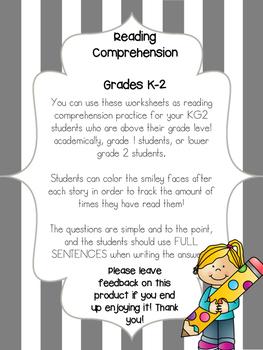 Reading Comprehension Grades K-2