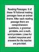 Reading Passages with Comprehension Questions