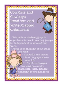 Reading Comprehension Graphic Organisers Think About What I Read Cowgirl/Cowboy