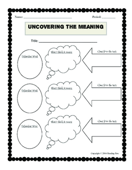 Reading Comprehension Graphic Organizer Bundle