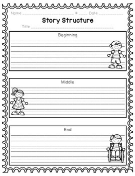Reading Comprehension Graphic Organizers for Primary