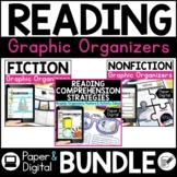 Paper and Digital Reading Comprehension Graphic Organizers Bundle