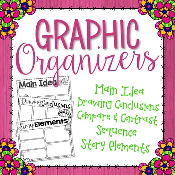 Reading Comprehension Graphic Organizers {Spring Themed}