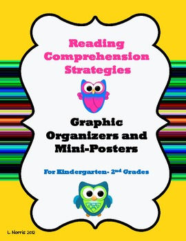 Reading Comprehension Graphic Organizers and Mini Posters Set Early Elementary