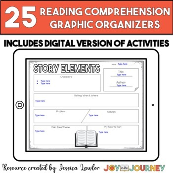 Reading Comprehension Graphic Organizers for Any Book: Common Core Aligned