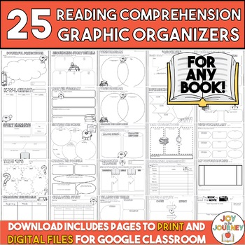 Reading Comprehension Graphic Organizers for Any Book: Com