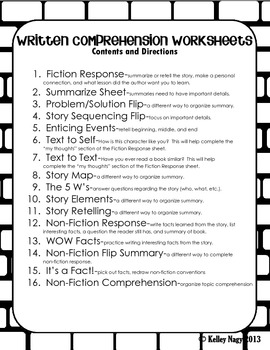 Reading Comprehension Guide