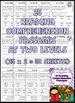 Reading Comprehension: Kindergarten and 1st Grade Reading Comprehension Passages