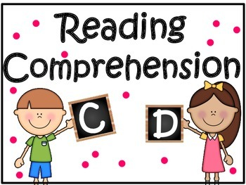 Reading Comprehension: Guided Reading Levels C & D