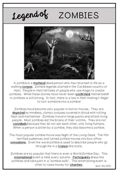 Reading Comprehension: Halloween Legends