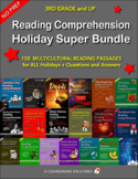 Reading Comprehension Holiday Super Bundle for 3rd Grade and Up